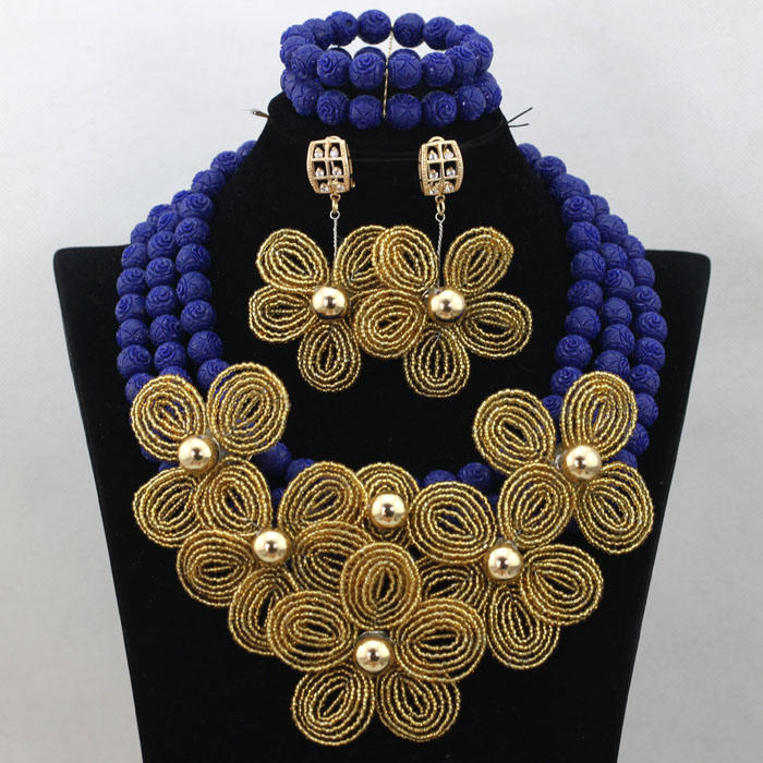 Nigeria wedding bridal jewelry đặt necklace