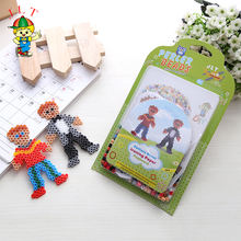 Little boys perler beads toys pattern sheet ironing paper pegboard diy nontoxic bead design children toy
