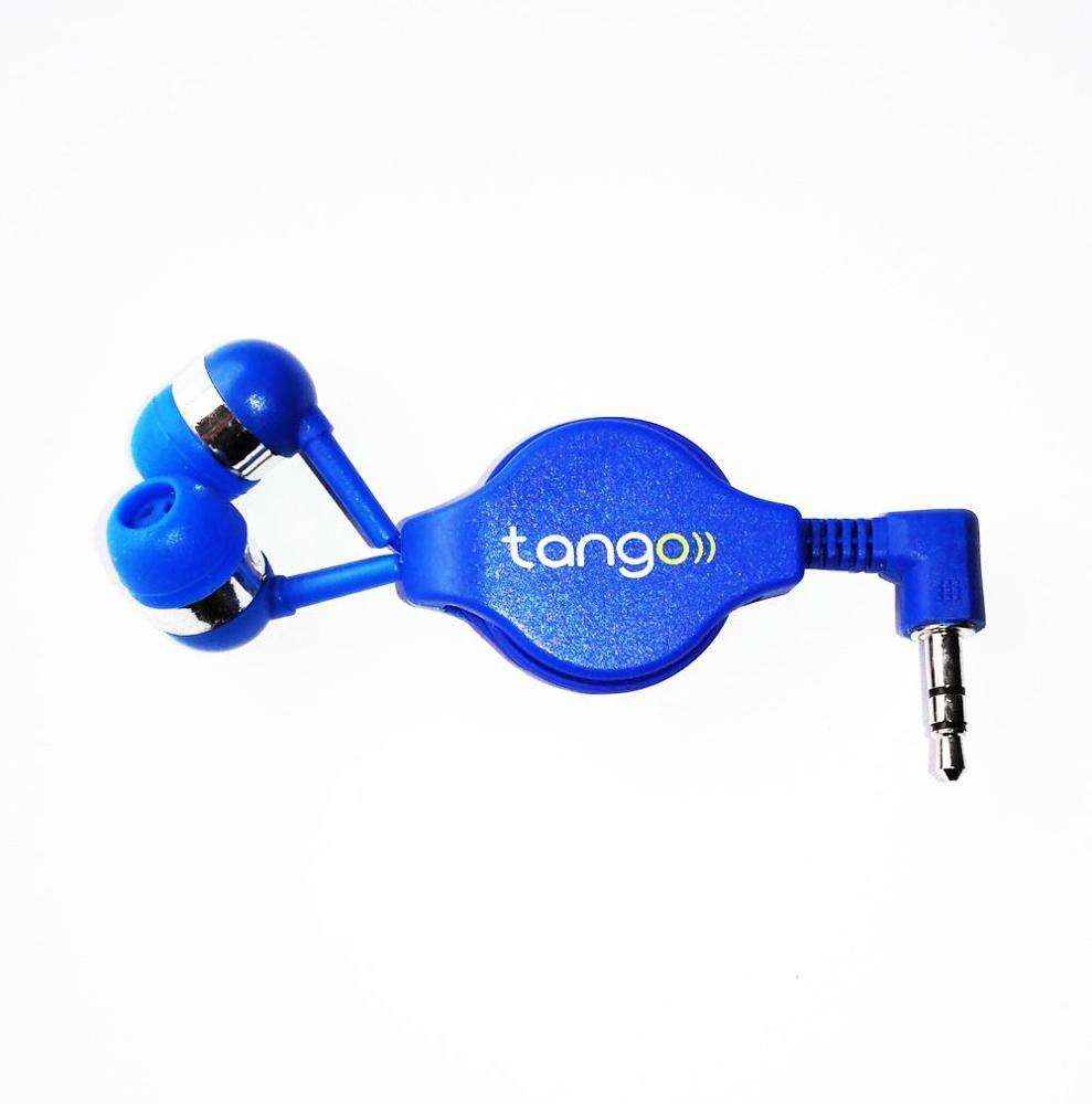 Retractable earphone for Mobile Phone Use and Microphone,Waterproof,Noise Cancelling Function with mic wired earphone