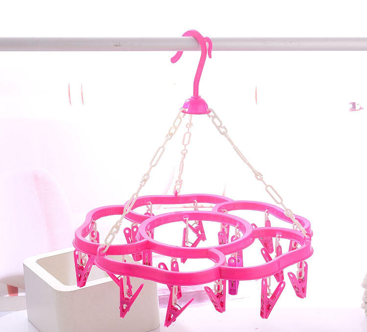 Hot Sale High quality PP plastic clothes drying hanger rack with 20 pegs