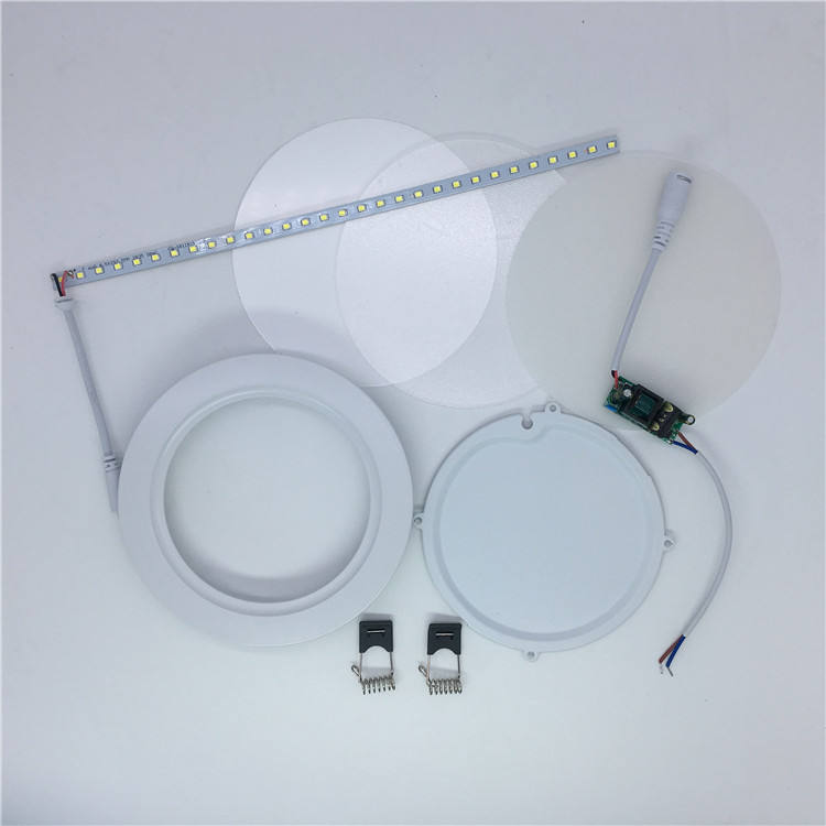 12w round skd led panel light spare parts China manufacturer in zhongshan factory