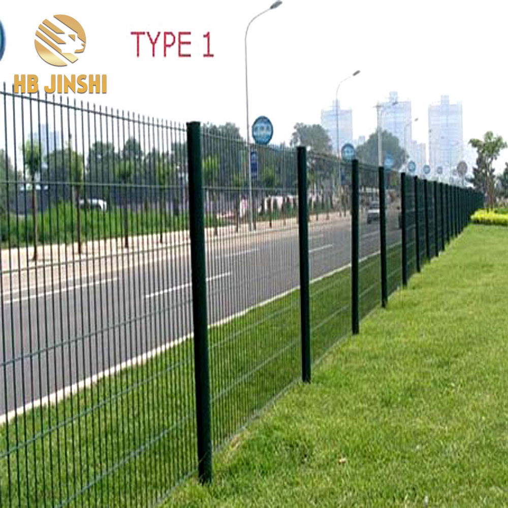 2'' x3'' Green PVC coated welded wire mesh fence netting