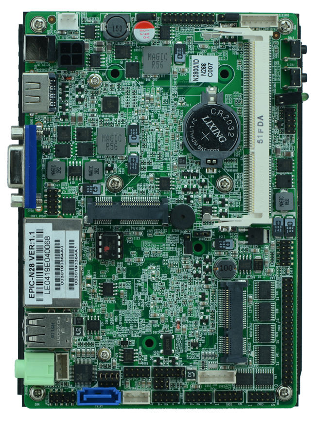 Mit Intel ATOM N2800 3,5 zoll industrial mainboard x86 single board computer, VGA, LVDS