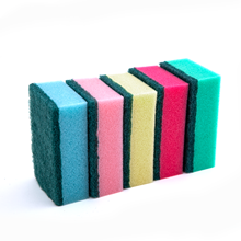 DH-A1-11 Eco friendly kitchen dish scouring pad scrubber cleaning sponge with polyester