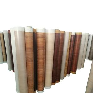 Factory Fashion Pattern Adhesive Decorative Wood Grain PVC Film For Furniture