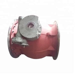 High quality low cost worm gear operated big size V type ball valve