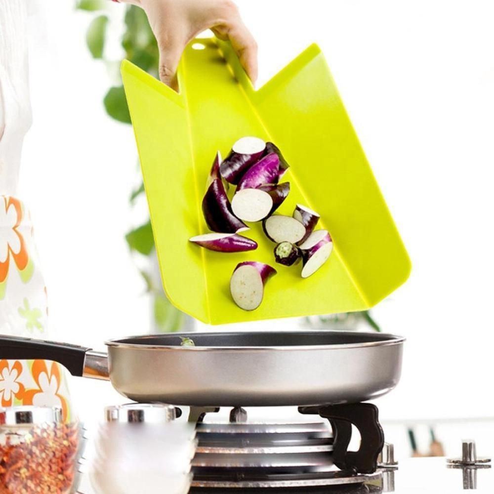 1Pc Foldable Chopping Blocks Food Grade Plastic Vegetable Meat Cutting Board