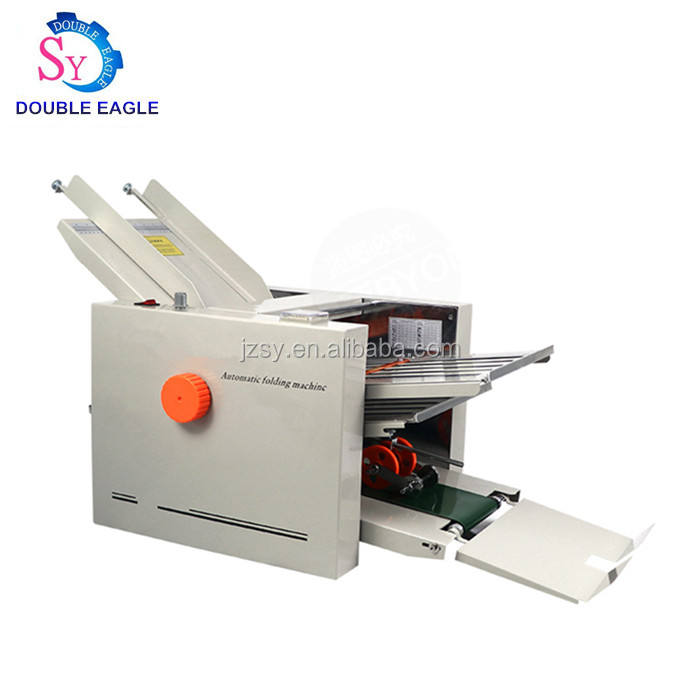 Best selling automatic product description paper folding machine/4 Folding Trays For Instructions Binding Machine