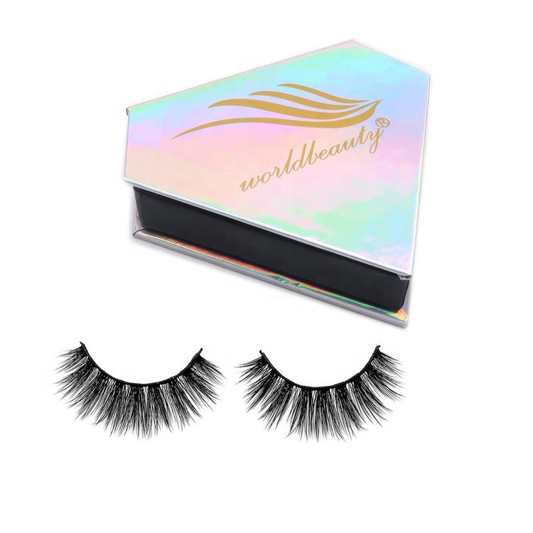 Wholesale 3d 4d silk faux false mink strip super thin band lashes mink eyelash vendors