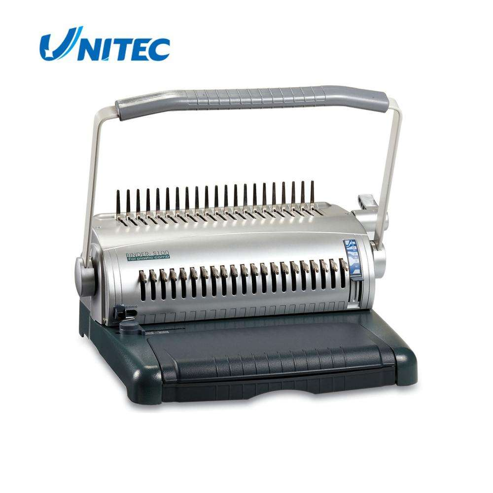 Chinese wholesale manual comb binder small book binding machine price