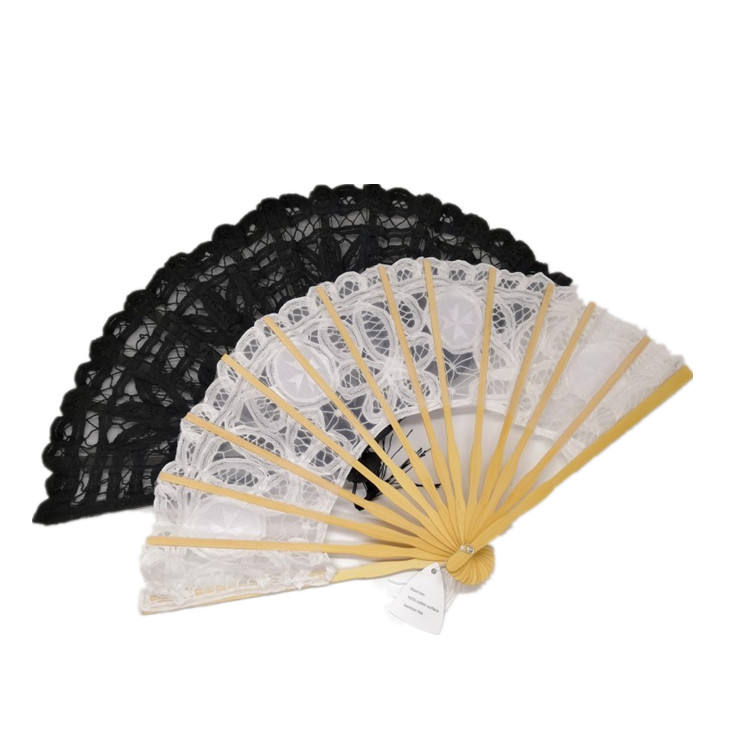 White Lace Fan Wedding Victorian Lace Fan for Wedding Ceremony Beach Wedding Favor Bridal Party Brides