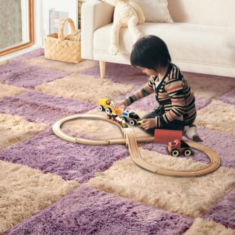35x35 CM Carpets for Living Room Bedroom Children Kids Soft Patchwork Carpet Magic Jigsaw Splice Puzzle Climbing Baby Mats