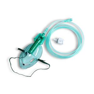 Medical PVC Types Of Adjustable Venturi Oxygen Masks With Two Diluters