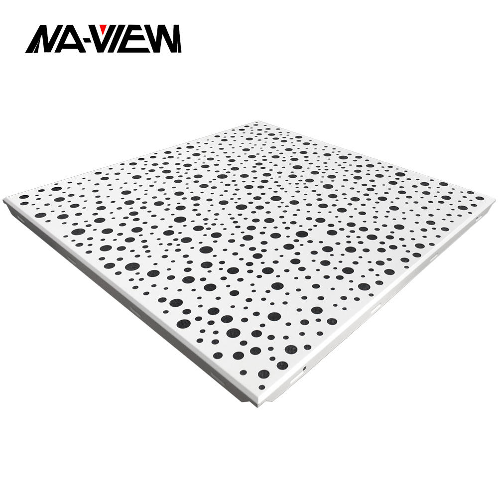 Artistical Environment Friendly Square Metal Suspended Aluminium Decoration Ceiling Plafond