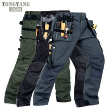 TONGYANG Men Working Pants Multi-pockets Wear-resistant Worker Mechanic Cargo Pants High quality Machine Repair Pants