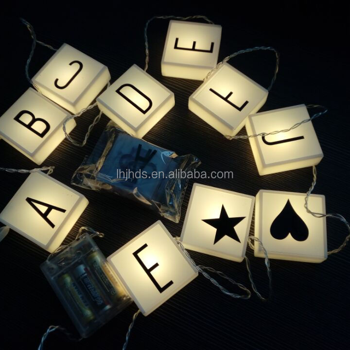 LED Letter Hanging String Lights Battery Operated