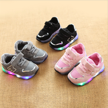 Children's sports shoes anti-skid LED light shoes