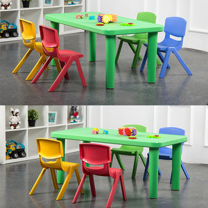 Portable Saving Space Collapsible Waterproof Safety Folding Kids Table and Chair Set   Children Furniture Sets