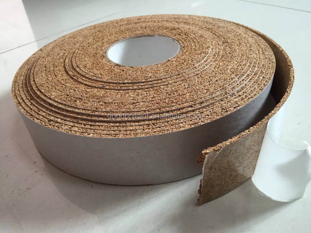 Adhesive Cork decorative Tape cork insulation strip