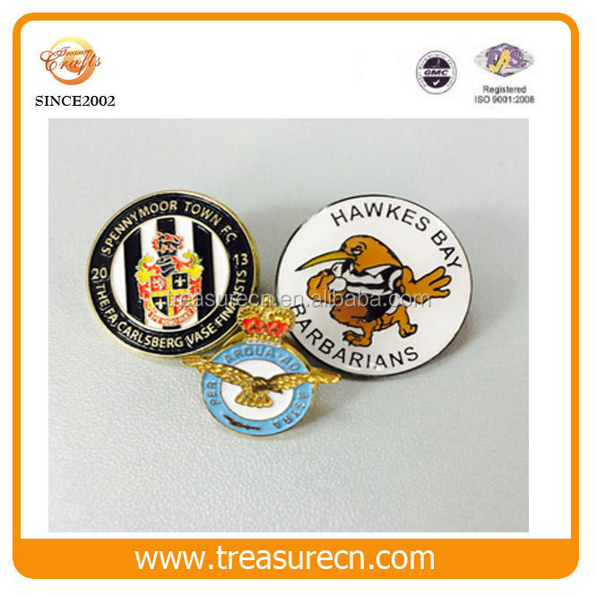 Newly Football Club Enamel Metal Badge With Customized Logo