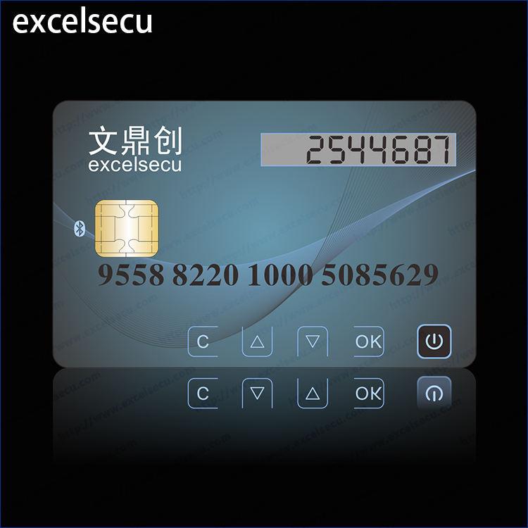 높은 보안 LCD 디스플레이 한 <span class=keywords><strong>암호</strong></span> 은행 직불 칩 플라스틱 <span class=keywords><strong>pvc</strong></span> 카드
