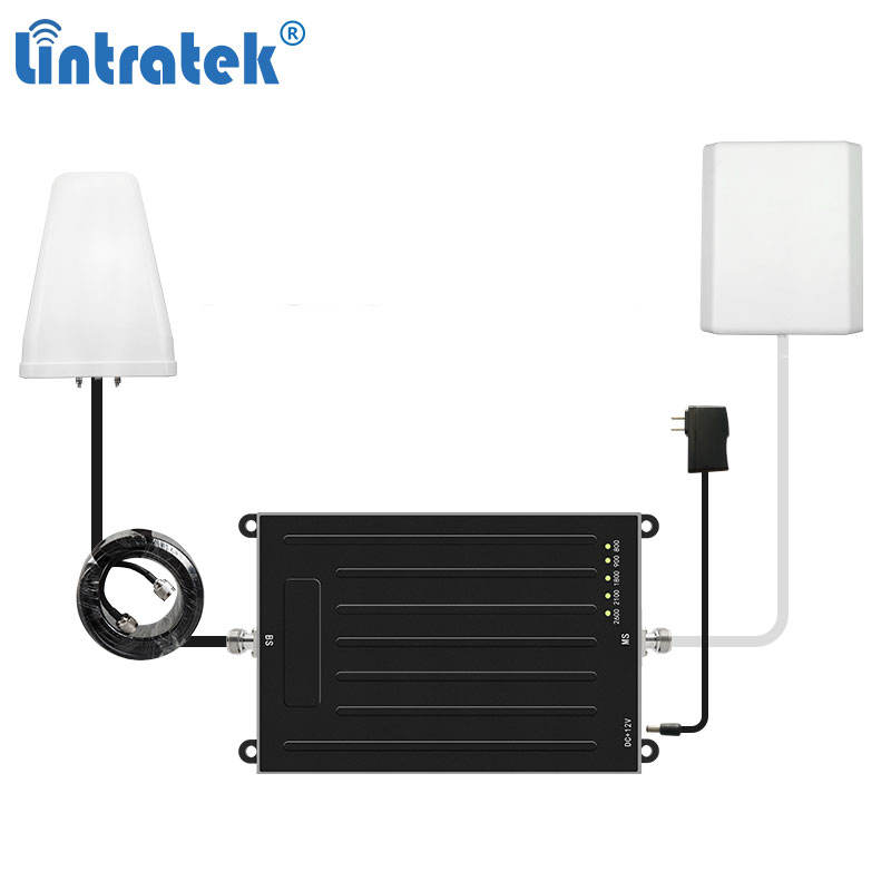 LINTRATEK 800 900 1800 2100 2600 gsm network repeater lte signal booster 2600 mhz repeater 4g 5g amplifier