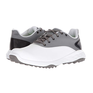 Custom cheap waterproof rubber sole leather spikes golf shoes for men