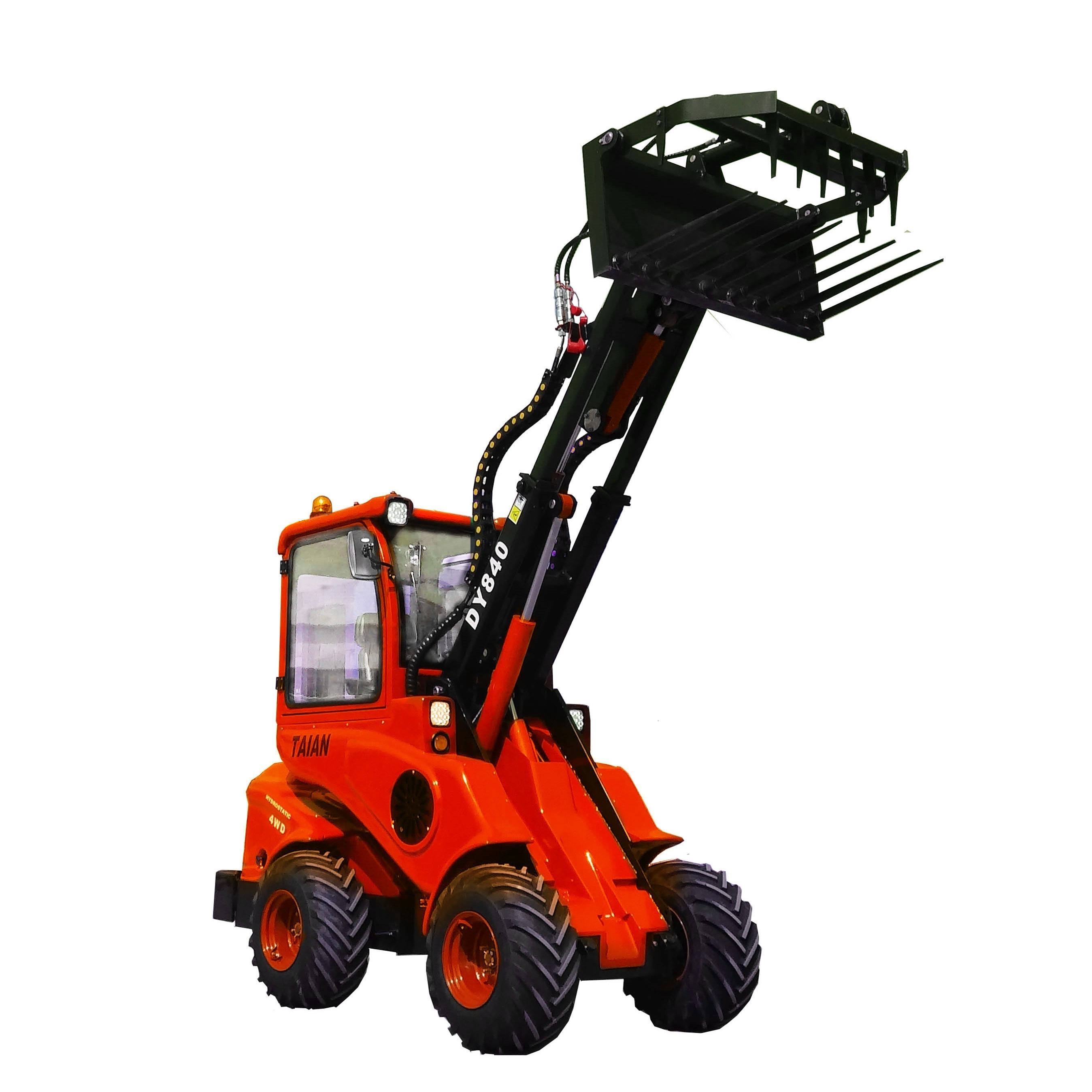 CE minil wheel loader DY840 front articulated optional with many kinds of engine best price