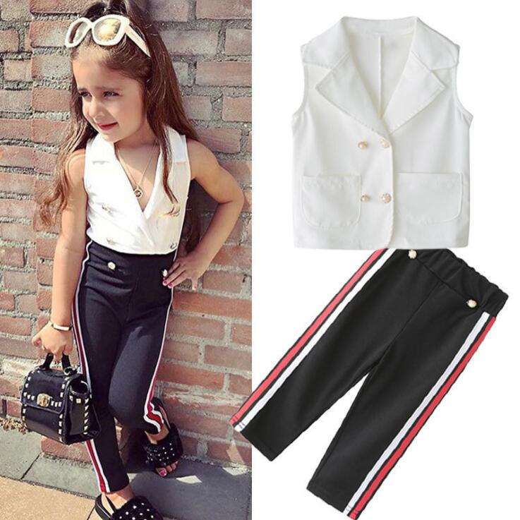 2019 boutique shop quality USA baby girls clothes sets factory perfect workmanship junior girls clothing