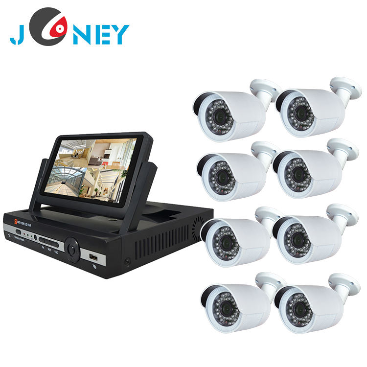 8CH bullet camera with all in one monitor dvr kit security camera system