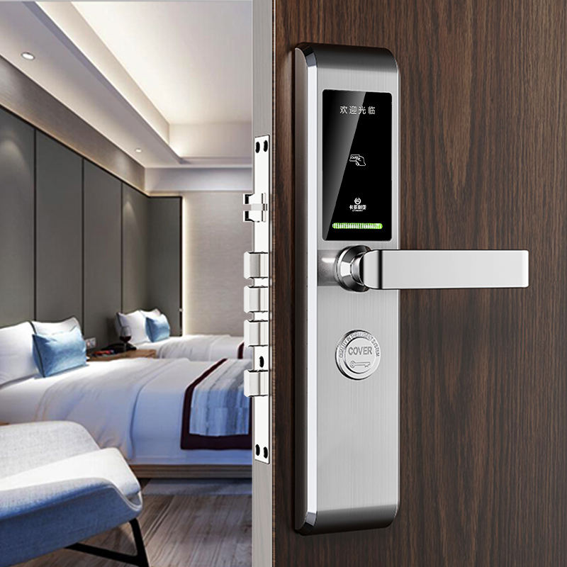 hotel key card reader card swipe door lock system digital Security smart door lock
