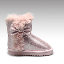 HC-588 Bow style glitter printing  cheap warm winter  boot for kids