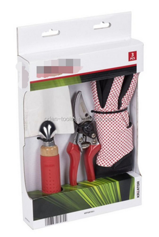 with plastic handle Metal garden pruner tools set
