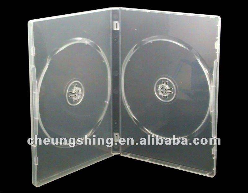 2017 made in China high quality 14mm clear dvd box/case wholesale