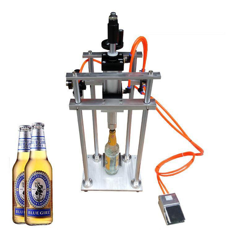 Pneumatic Beer Bottle Capping Machine, 26mm Crown Capping Machine for beer bottle, Crown Capper