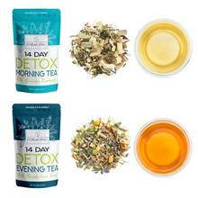 Foraging Detox Tea 14 Day and Night Teatox - (28 Tea Bags) With Garcinia Cambogia & Dandelion Root For Weight Loss And Relaxing