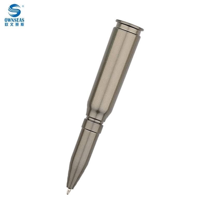 Wholesale promotional pens customized logo bullet shape ballpoint pen
