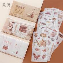 Literature Life Decorative Japanese Die Cut Washi Sticker Paper Scrapbooking Diary Stationery Album Stickers