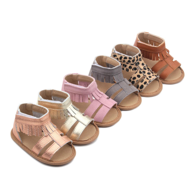 Cute Baby Shoes Summer Spring Korean Tassel Sandals Shoes,Kid Candy Colors Leather Strap Sandals for Baby Lovely Girls
