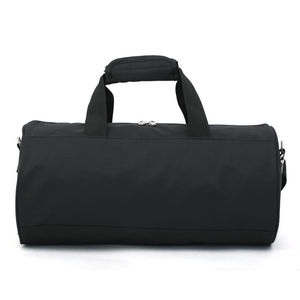 eco-friendly high fashion plain black small nylon travel duffel sport gym bag with shoulder strap