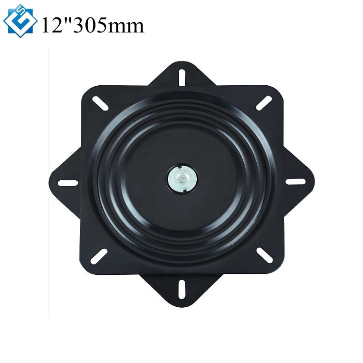 Chair base parts swivel plate type TV table free rotation 12 inch 305mm turntable swivel plate