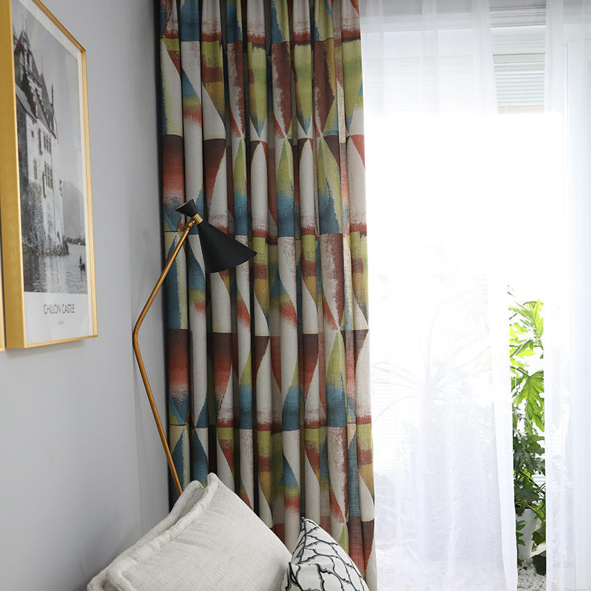 Wholesale Living Room Window Curtain And Drapes,Home Decor Designs Printed Fabric#