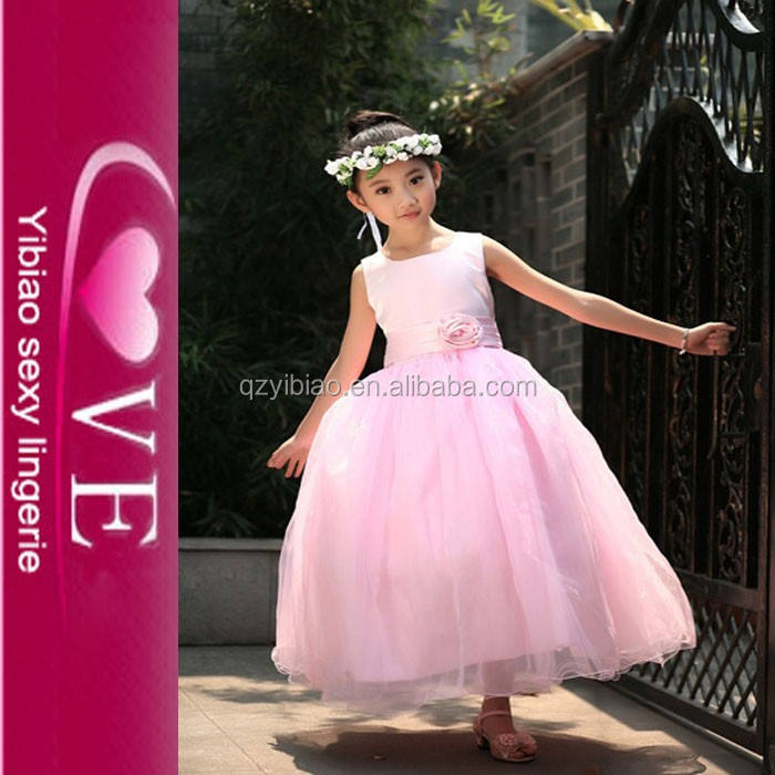 vestido de la muchacha de la <span class=keywords><strong>moda</strong></span> de alta calidad de color rosa para niña chico vestido de niños vestidos