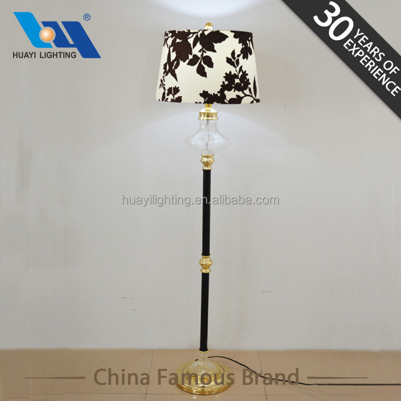 Modern design living room E14 Metal engraved glass floor lamp&home goods decorative table lamps