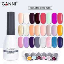 #62507a CANNI 15ml soak off gel polish uv gel led soak off salon professional manicure color coat gel nails canny color nail art