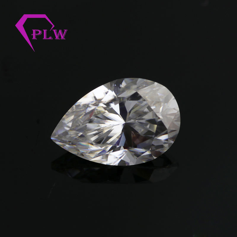 Provence gem factory 1ct 5x8mm def pear cut moissanite diamond for wedding ring