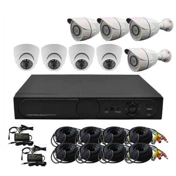 Outdoor 2.0M HD DVR IR waterproof Dome cameras Kits
