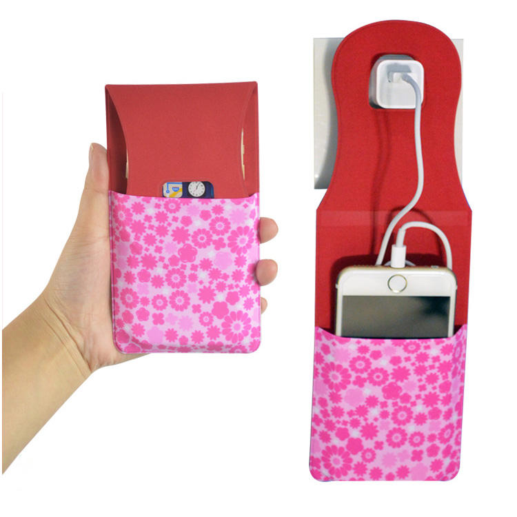 Custom Foldable Plastic mobile cell phone charger charging holder for Travel