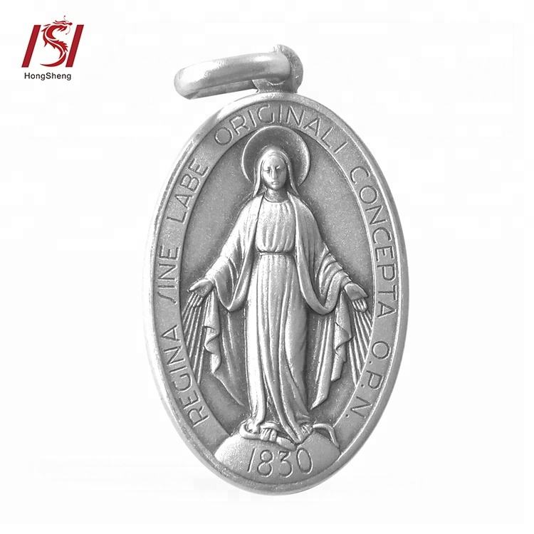 Custom Cheap Religious Metal Large St Benedict Medals