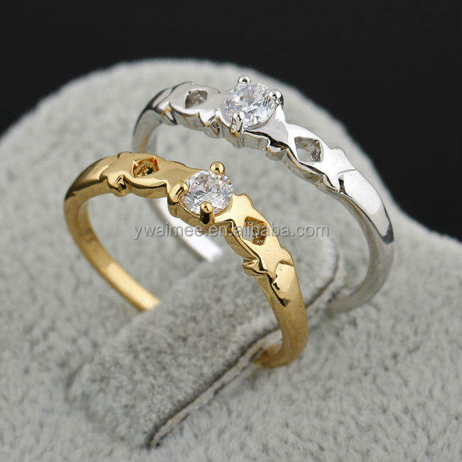 fashion tat ring,jewelry napkin rings 10k gold and zircon for weddings(AM-J27019)